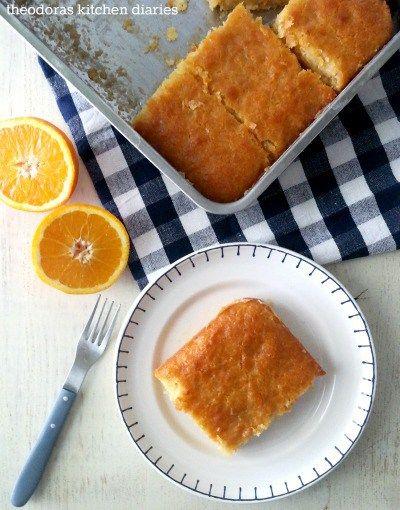 Traditional Greek Orange Pie with Phyllo - Sweet Applepie