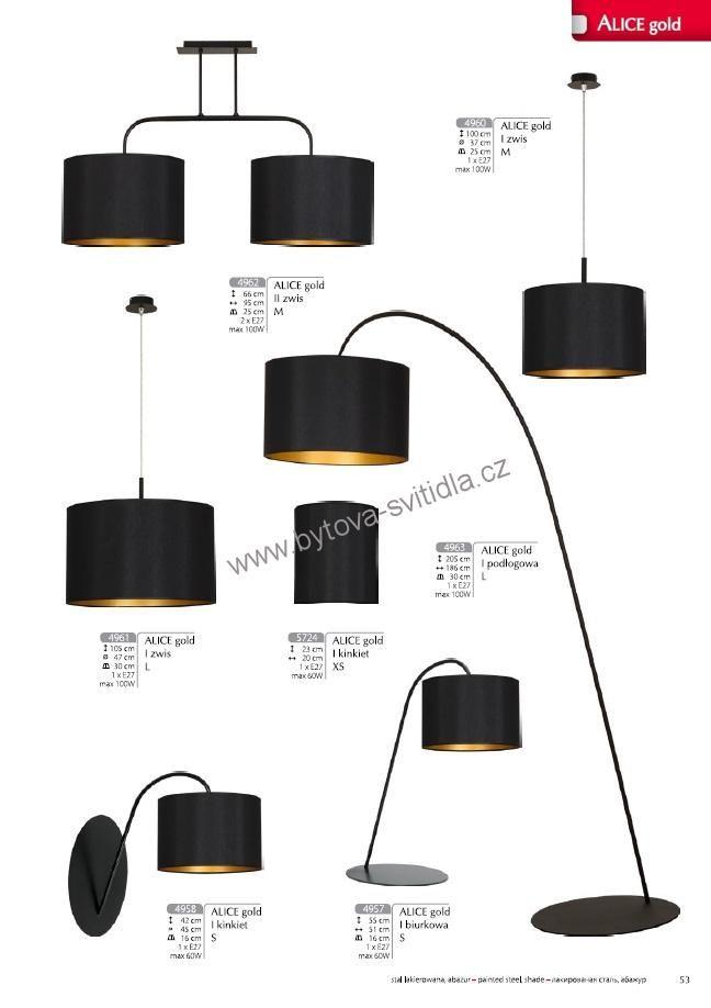 Nowodvorski 4963 Alice Gold - Stojací lampa