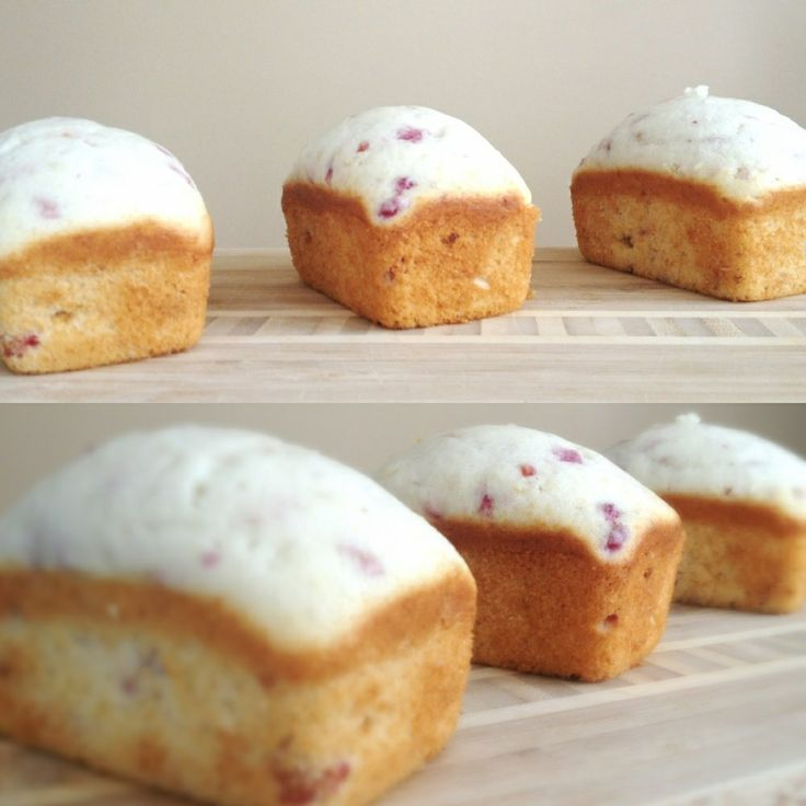 Probably the cutest mini cakes ever... Vanilla Raspberry Mini Cakes