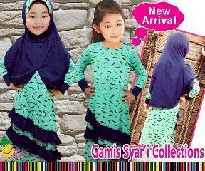 Gamis Syar'i anak perempuan umur 4-5-6-7-8-9 tahun  - http://keikidscorner.com/baju-anak-perempuan/baju-muslim/gamis-syari-anak-perempuan-umur-4-5-6-7-8-9-tahun.html