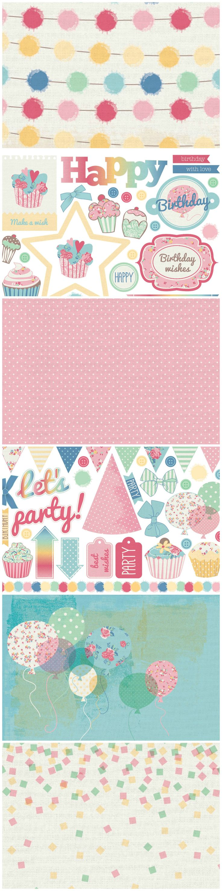 Think of all the bright and brilliant birthday cards you could make with these free printable papers from Papercraft Inspirations issue 151!