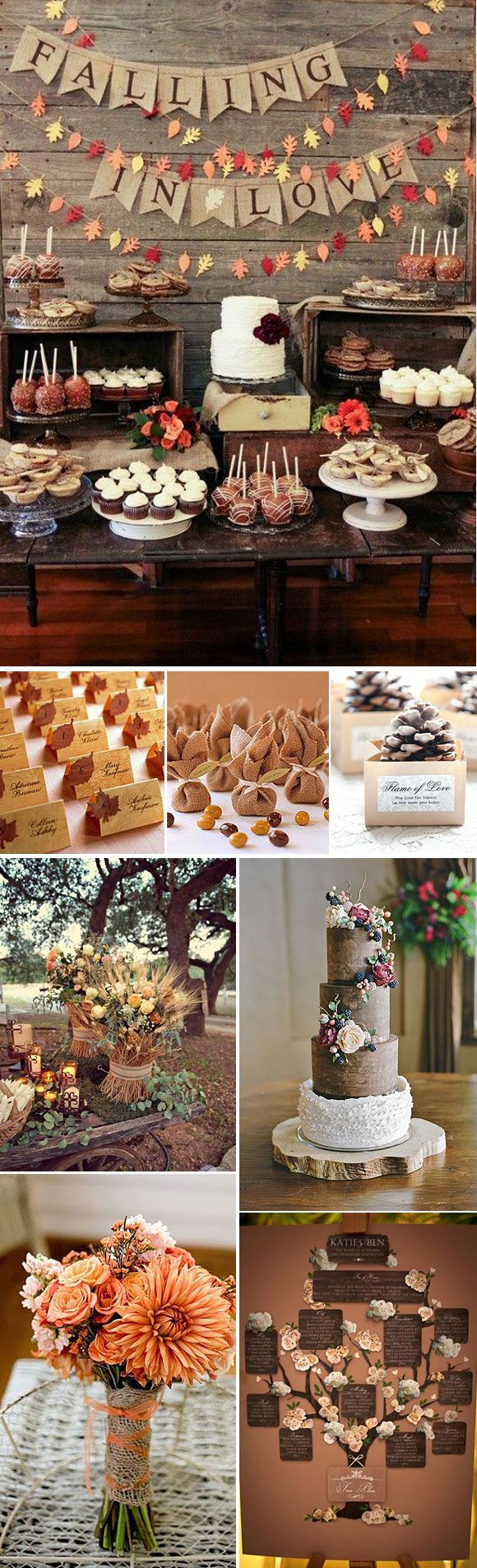 Bodas en Otoño – Ideas para decorar una boda en otoño                                                                                                                                                                                 Más