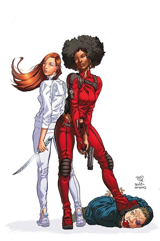 Meet Colleen Wing and Misty Knight. Wing (left) is Japanese, and has the power of supernatural strength, fast self-healing and withstanding harsh temperatures. Knight is African-American, trained in martial arts, and has super strength and a bionic arm.