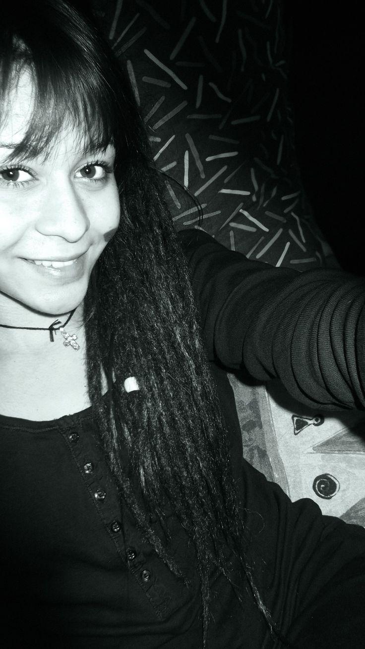 #WHEIT AND BLACK #DREADLOCKS #GIRL