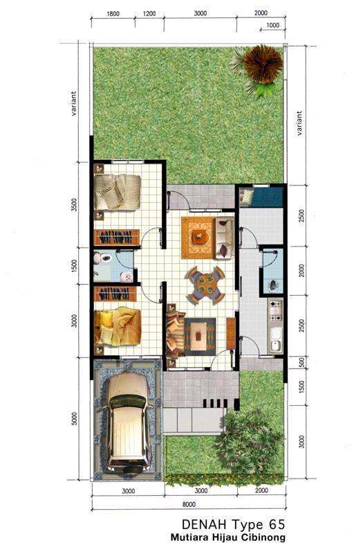 Gambar Sketsa Denah Rumah Type 45
