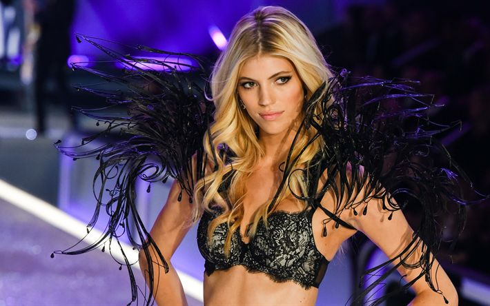 Scarica sfondi Devon Windsor, modelli di moda, bellezza, 4k, top-model
