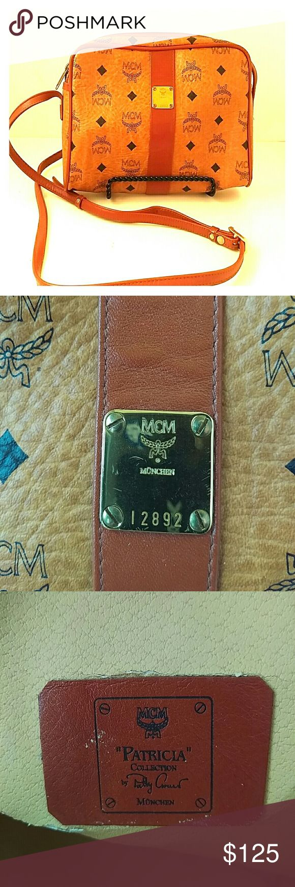 """Color Videos cross-post MCM bag Form meets function, as this MCM vintage model moves as fast as you do. Exterior in excellent vintage condition, minor leather cracking on interior. A wonderful addition to your fall or winter wardrobe. Classic MCM bag. Traditional tan and black pattern. All zippers and findings in excellent condition. Upgrade your look with this 8""""x 9"""" x 2.5"""" treasure. MCM Bags Crossbody Bags"""