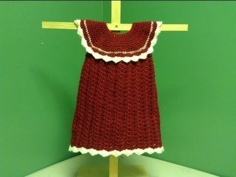 ▶ How to Crochet a Baby Christmas Dress - YouTube