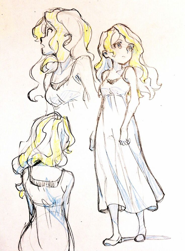 Diana Little witch academia sketch