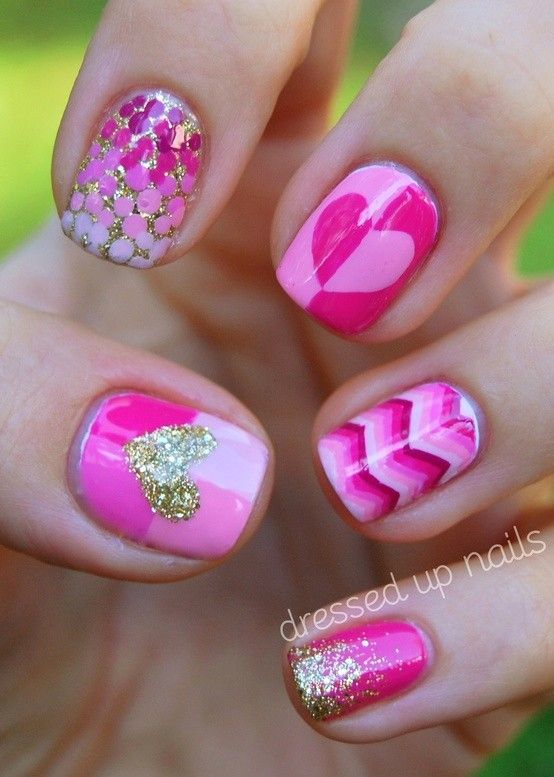Cute Valentine's Day nail designs