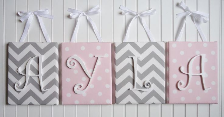 Wall Letters Nursery Decor Upholstered Letters by fabbdesigns, $20.99