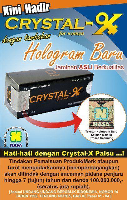 Obati keputihan dengan crystal x asli.