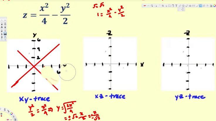 Quadric Surface - The Hyperbolic Paraboloid - Vector Calculus
