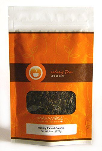 Mahamosa Monkey Picked Oolong Tea 8 oz - China Oolong Tea Loose Leaf (Looseleaf) (Wulong Tea, Wu Long Tea) * Be sure to check out this awesome product.