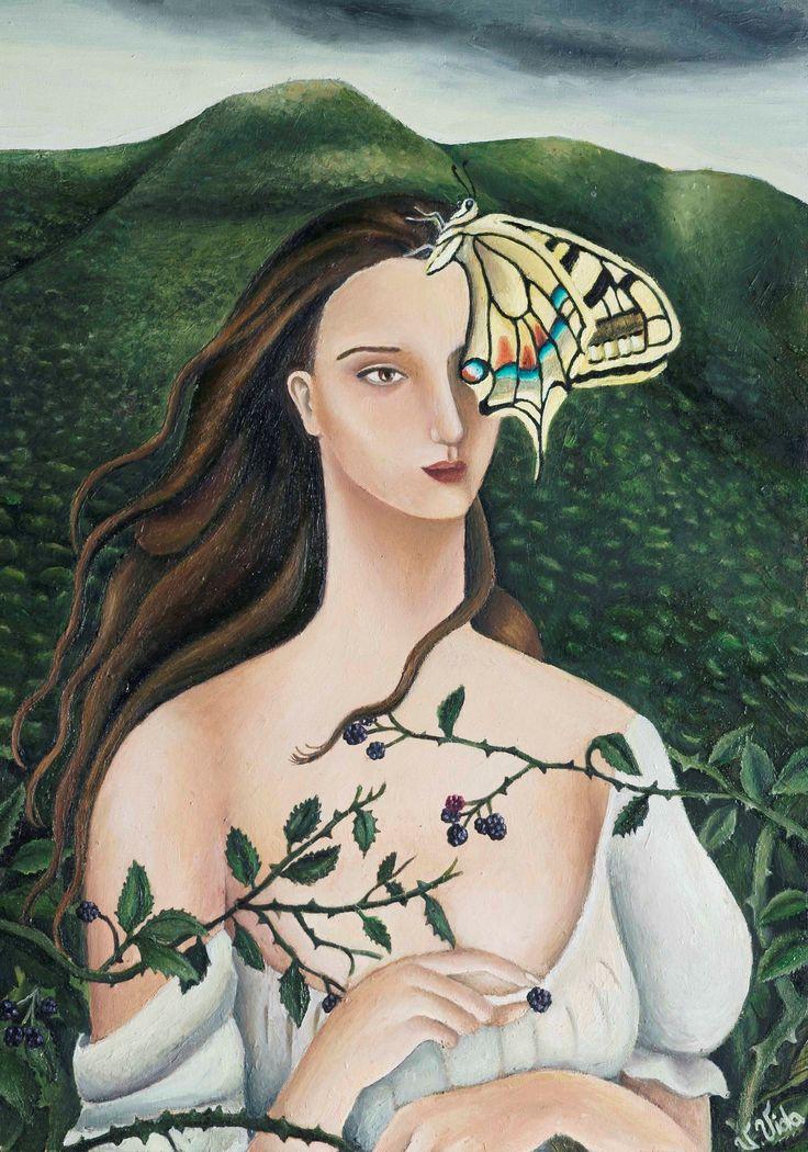 Viola Vistosu, L'estate umida-Olio su tavola (Oil on wood) 2014