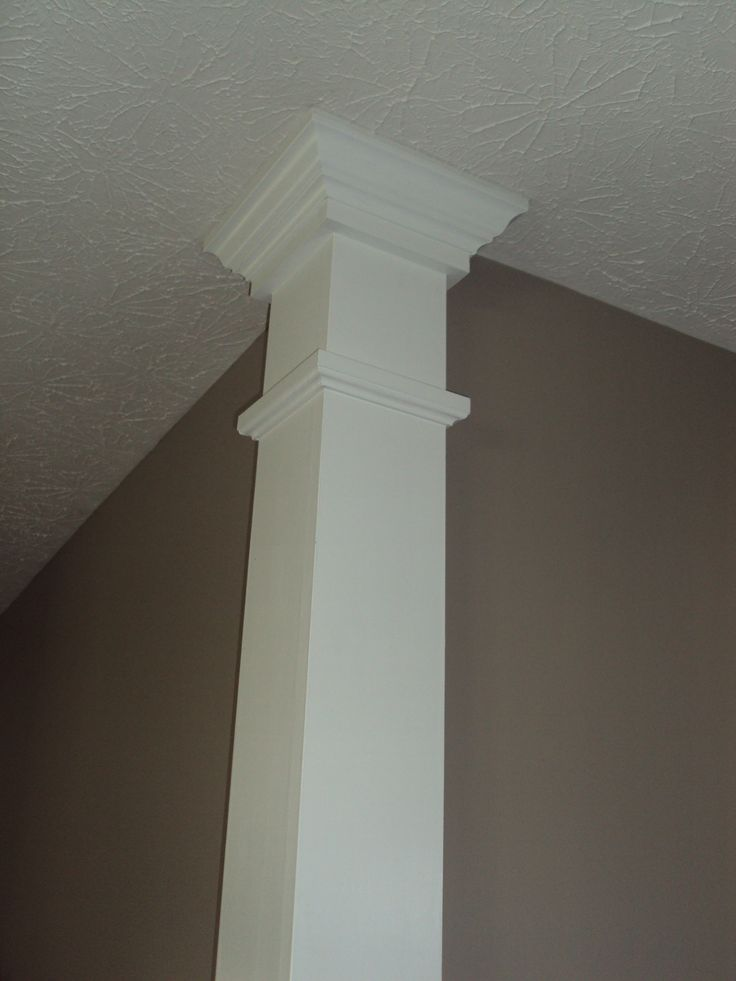 Column on a corner my husband made.  Easy to make, adds to your home!