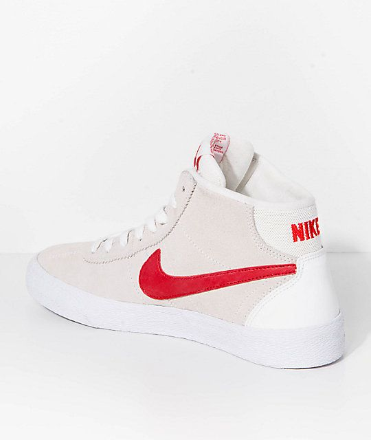 newest a0b17 8544d Nike SB Bruin Hi Summit White   University Red Skate Shoes