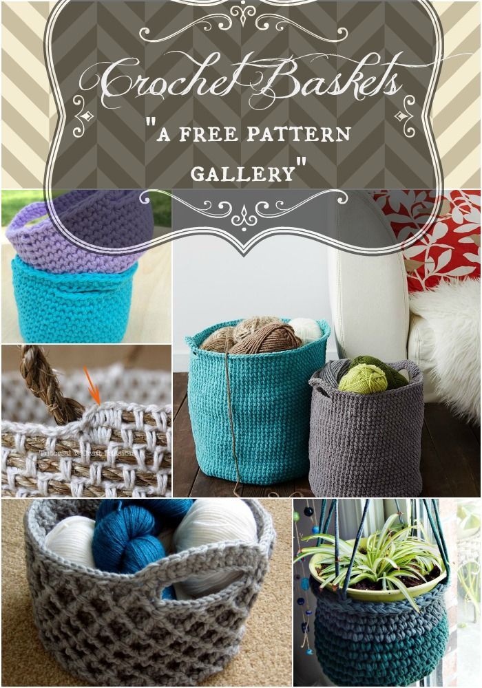 Organize your clutter AND give yourself an excuse to start another project. Five FREE crochet basket patterns in Morale Fiber's newest pattern gallery.