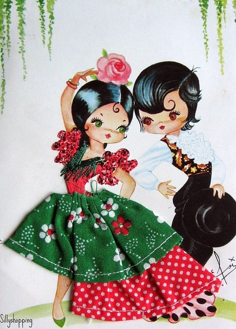 Embroidered spanish couple