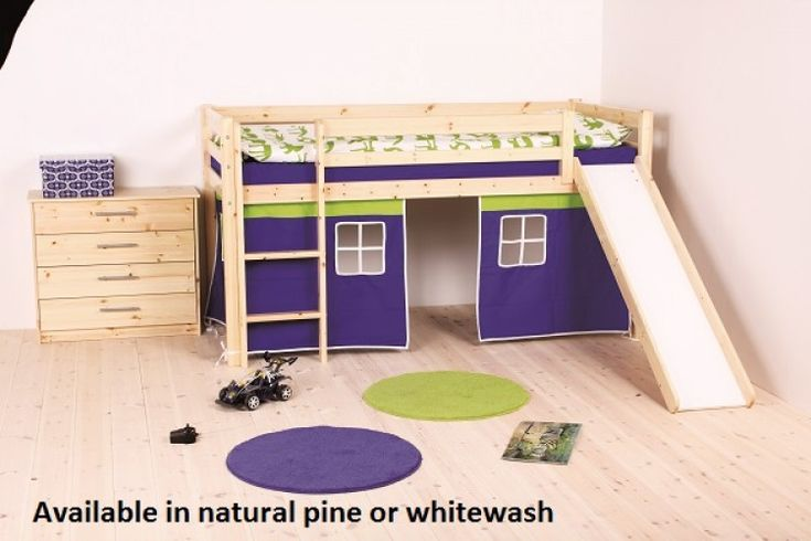 Thuka Hit 9 Childrens Mid Sleeper Bed Frame Available in Natural or Whitewash by Thuka