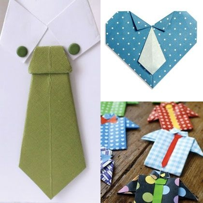 7 Fabulous Ideas: Origami Fathers Day Shirts and Ties #FathersDay