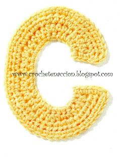 Nice crochet alphabet letters - visual patterns though, so learn how to read those.