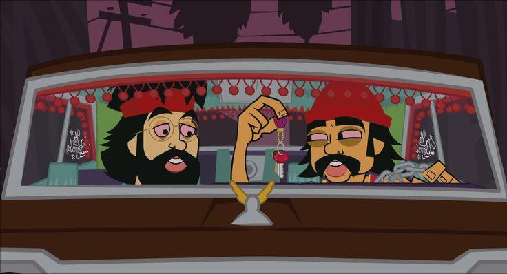 CHEECH AND CHONG comedy humor marijuana weed y wallpaper