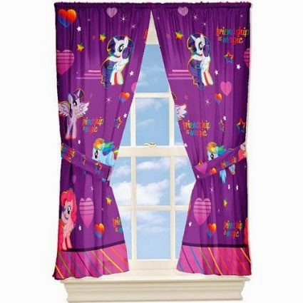 My Little Pony Window Drapes Curtains Panels Purple And Pink