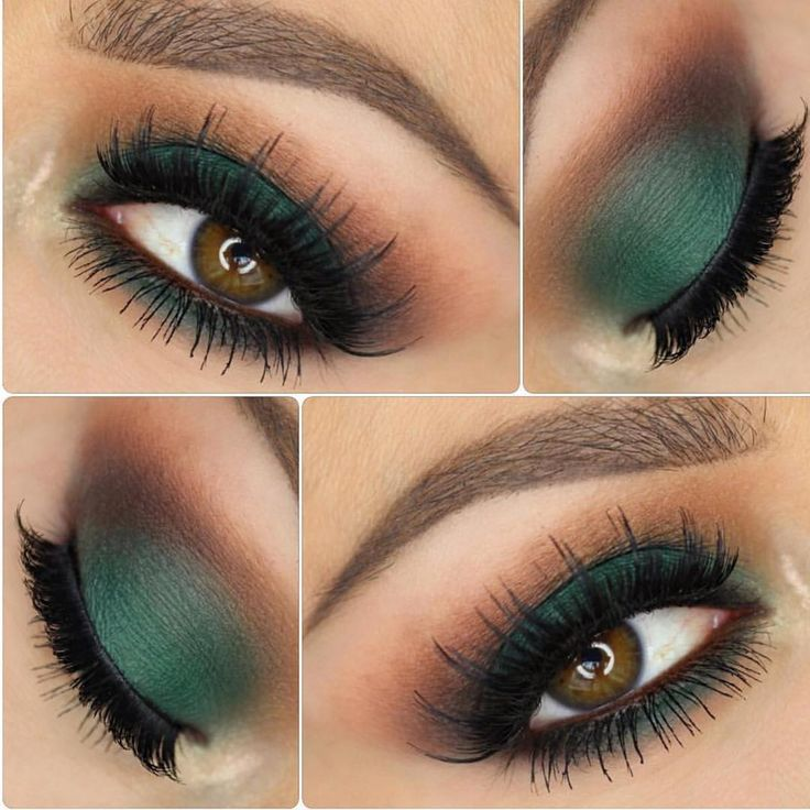 """""""The Grass is always greener  @jennivae used Morphe shadows for this Forrest green makeup look that we can't wait to try!! Follow our #morphegirl"""""""