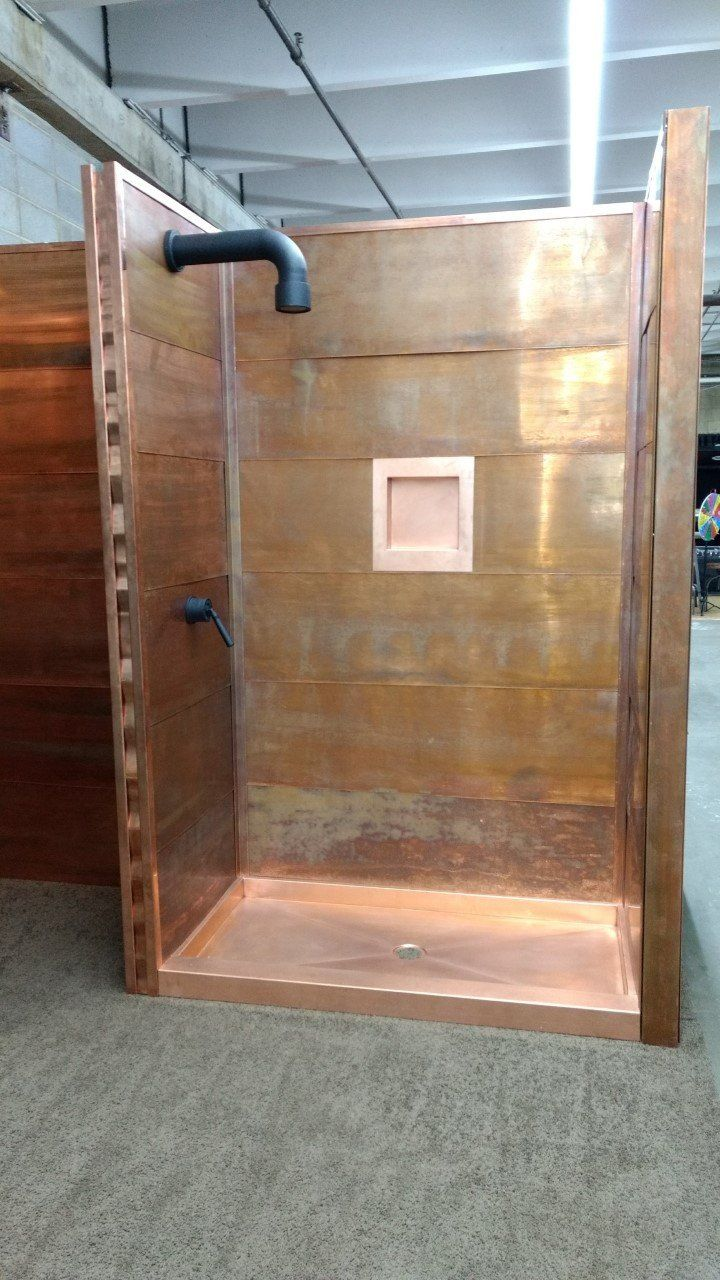 Copper Shower Co Shower Surround Copper Shower Kit In 2020