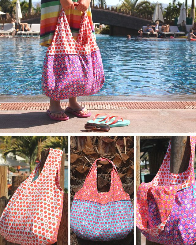 Charlie Bag / Erdbeerenstoff / strawberry fabric / Hamburger Liebe