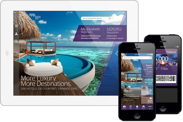 Starwood goes mobile. Download SPG app on your iphone, ipad, or Android and you will fall in love at the first swipe. http://www.starwoodhotels.com/preferredguest/index.html