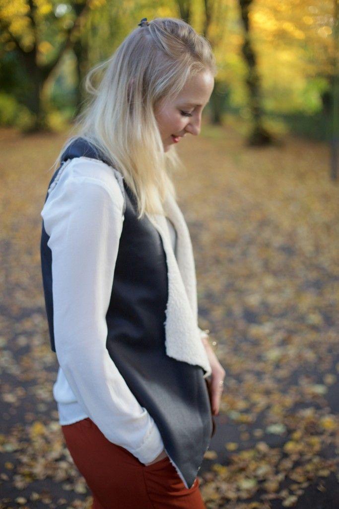 Faltenhose von Zara und Herbstfarben | Outfit
