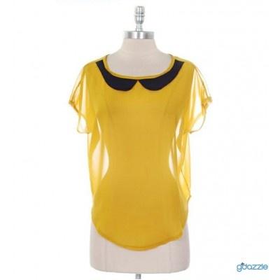 Women's Vintage Retro Style Yellow Sunflower Top   Looks cute :)