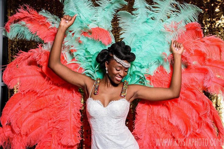 You know it's going to be an awesome time in the PhotoBooth when the bride brings this awesomeness!! We're gonna share so many pics from Thrisha & Donaldo's wedding the next day or so because it's their anniversary and because their wedding rocked!! #braceyourself #happyanniversary   #kristaphoto @acecarnival @styllistik
