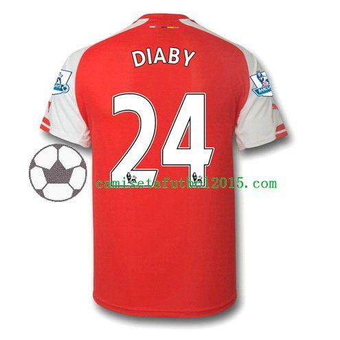 Nueva Camiseta de diaby del Arsenal 2014-15 1ª