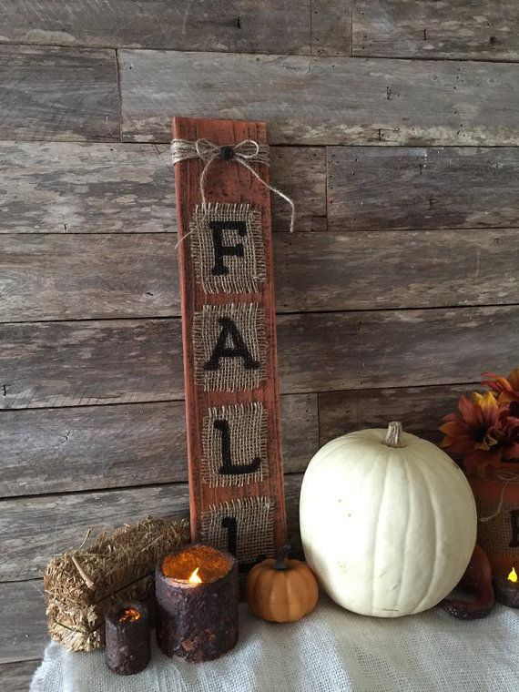 Fall Decor, Rustic Fall Wood Pallet Sign by Country Clutter.