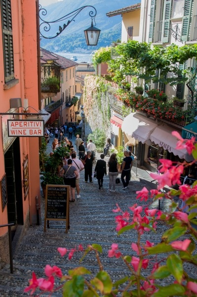 Bellagio ~ streets are filled with beauty year round and Lake Como's