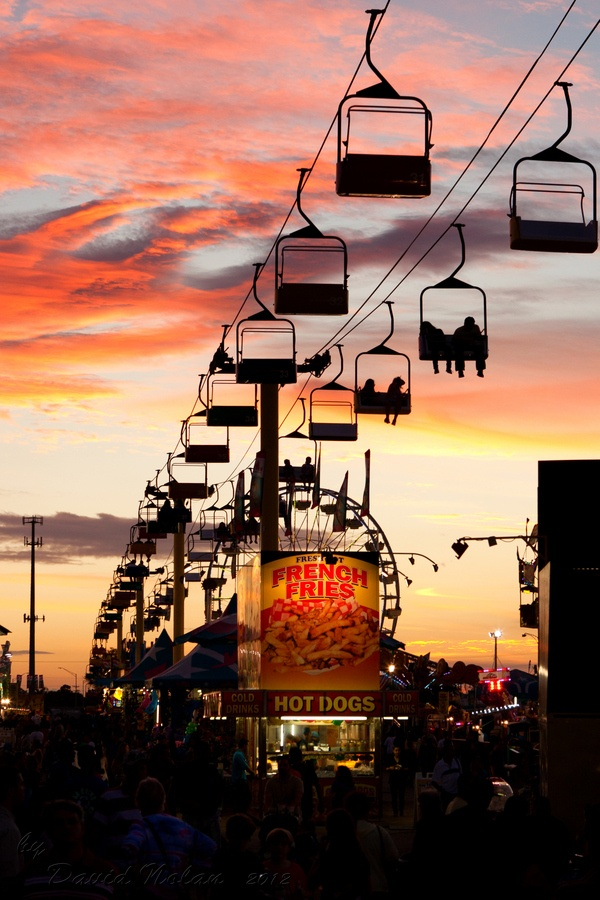 "South Florida Fair, West Palm Beach, FL  I grew up going to this fair!  I had forgotten about the ""ski lift"" at the fair until I saw this image.  Memories.  :)"