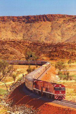 """I'm taking the train called """"The Ghan"""" straight through the middle of Australia!"""