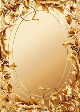 Gold Photo frame template - Gold ornaments