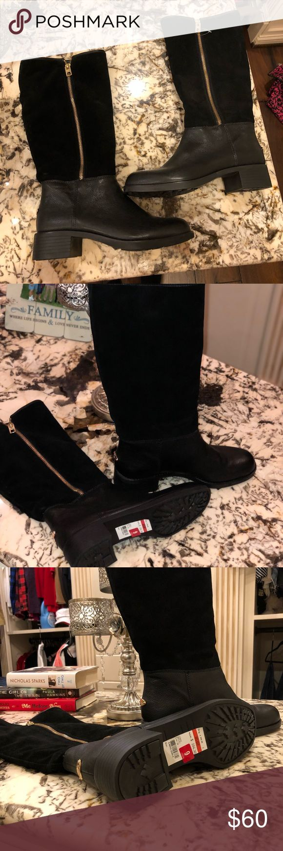 Coach boots Brand new never worn Coach boots. Very cute and can be dressed up or just a causal wear. The bottom  part of the shoe is a leather and the top is a suede. Coach Shoes Winter & Rain Boots