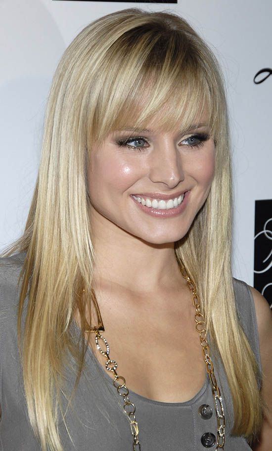 Kristen Bell Blonde Hair With Bangs Hairstyle Pinterest Hair