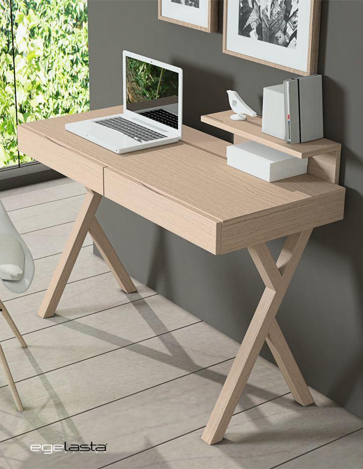 Egelasta · Mueble · Moderno · Madera · Mobiliario de hogar · Catálogo New Live · Día · Noche · Escritorio y tocador con patas de madera · Roble nórdico
