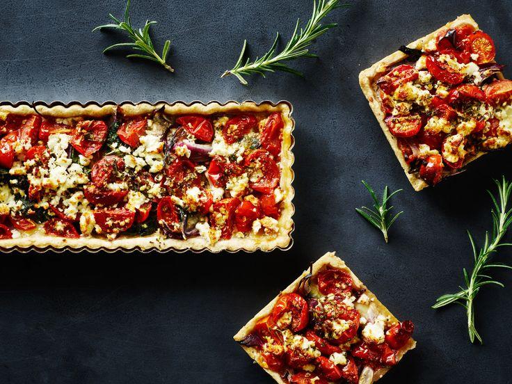 Opskrift på tomattærte med feta og rosmarin