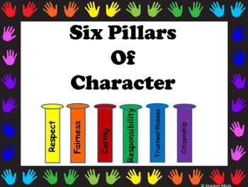 7 fun posters that can be used to display regarding the 6 pillars of character www.kingdomminds.net