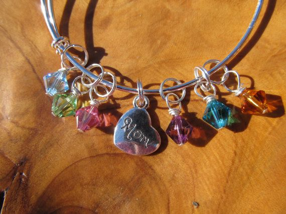 MOM Alex and Ani inspired  Adjustable Bangle by DestinyAccessory