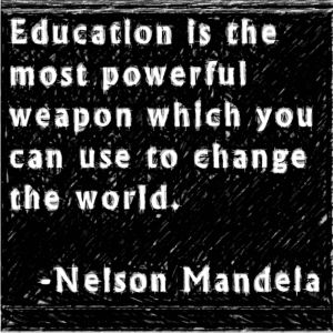 Nelson Mandela Quote - Education