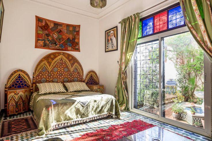 apartment in fes morocco ocation d 39 un appartement meuble style petit riad au rdc dans. Black Bedroom Furniture Sets. Home Design Ideas