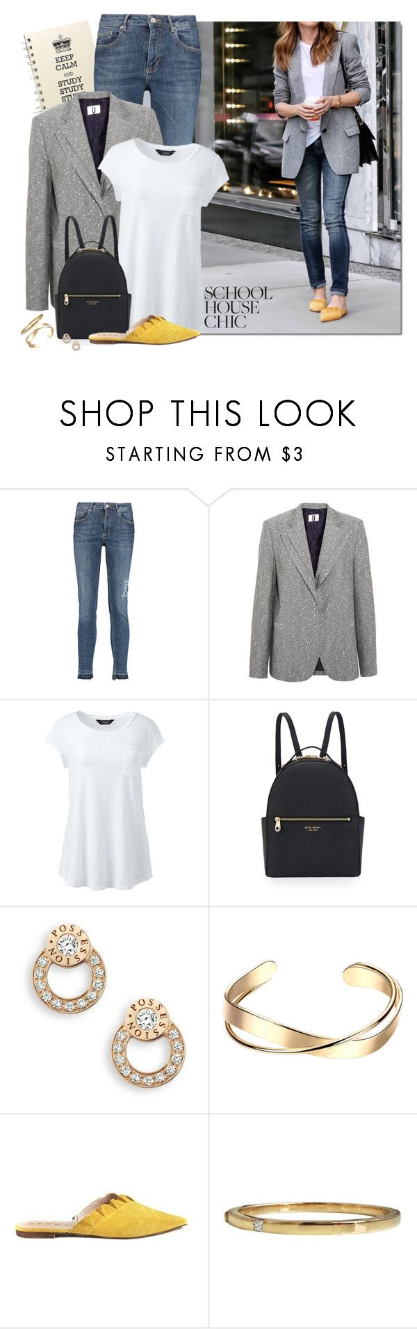 """Finals Week:  Simple Blazer Outfit"" by fashionista88 ❤ liked on Polyvore featuring Zoe Karssen, Topshop Unique, Lands' End, Henri Bendel, Piaget, Cartier and plus size clothing"